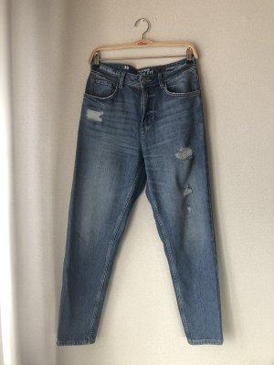 Blaue Mom Jeans