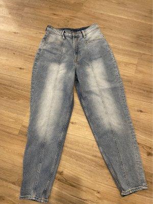 H&M Jeansy z wysokim stanem błękitny