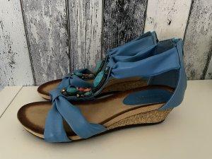 Blaue neue Sandalen mit Steinen von Farasion - Gr. 38