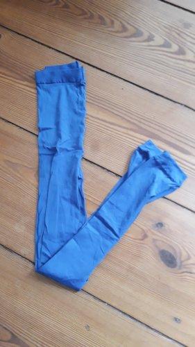 Blaue Nylon Leggings