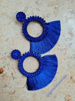 Asos Zdobione kolczyki niebieski