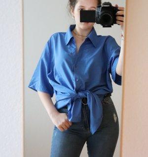 Blaue Oversized Bluse