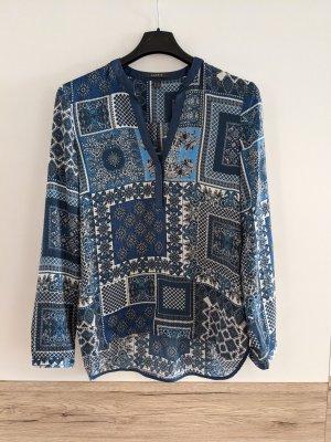 Blaue Paisley Bluse in Seidenoptik