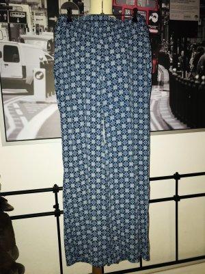 ~ Blaue Palazzohose Mandala von H&M Gr.36 Neuwertig ~