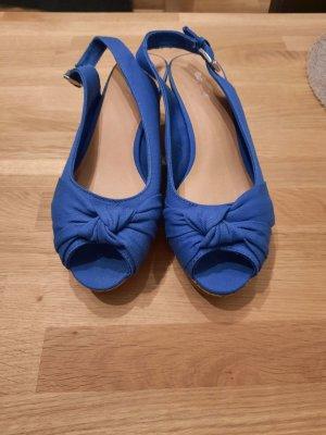 blaue Peeptoe