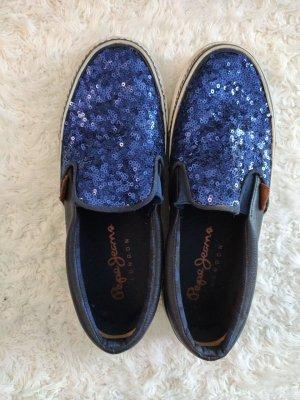 Blaue Pepe Jeans London Slippers in Größe 37