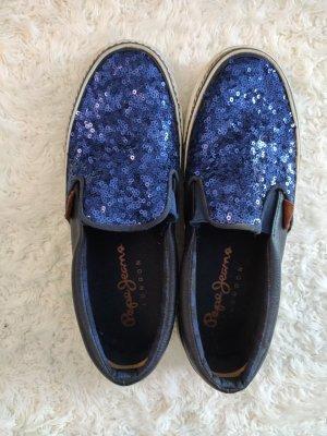 Blaue Pepe Jeans London Slippers/Sneakers