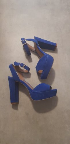 """Giordano"" Platform High-Heeled Sandal blue-dark blue"