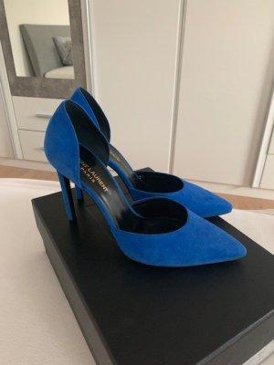Blaue Pumps von Saint Laurent