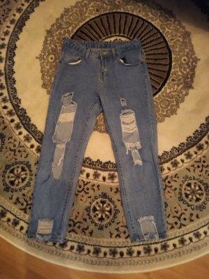 Blaue ripped Jeans