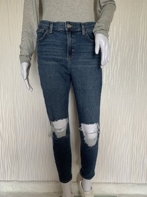 Blaue Ripped Jeans Model Jamie von Topshop