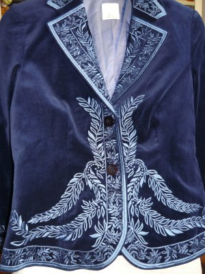Alba Moda Short Jacket light blue-dark blue