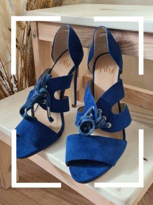 blaue Sandalette, 12cm Absatz, Gr. 38