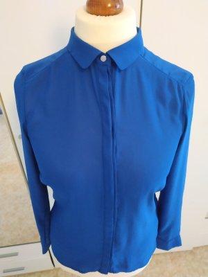blaue Satin Bluse von H&M, sehr weicher Stoff