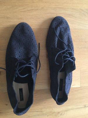 Blaue schicke Schuhe