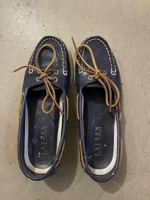 Polo Ralph Lauren Scarpa da barca blu scuro-beige