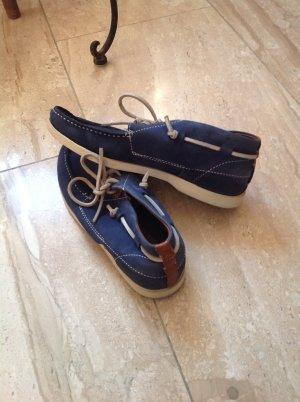 Campus by Marc O'Polo Zapatos de marinero azul acero-azul aciano Gamuza