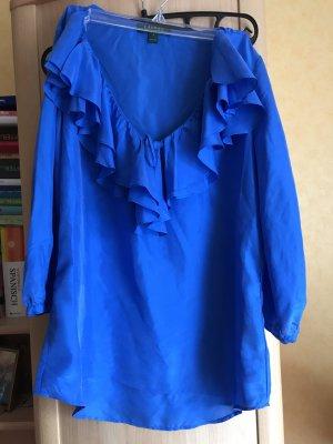 Blaue Seidenbluse von Ralph Lauren
