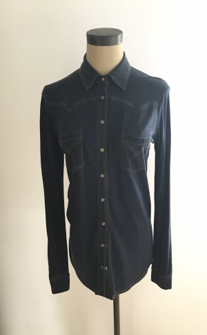 Cinque Blusa de manga larga azul oscuro Algodón