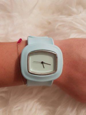 Blaue Silikon Uhr