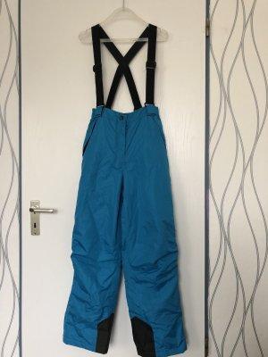 Pantalón de esquí azul neón