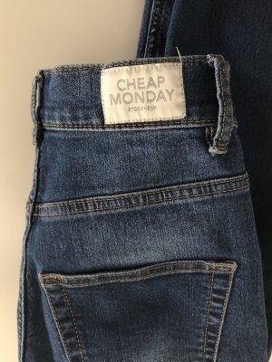 Blaue Skinny Jeans von Cheap Monday Größe 24/25