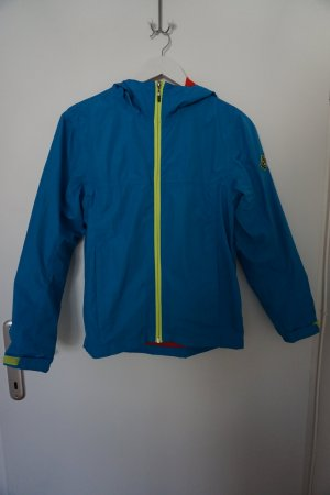 Giacca softshell blu neon-rosso Poliestere