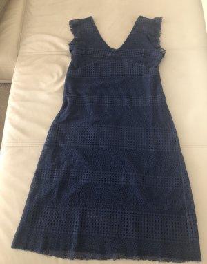 Blaue Sommerkleid Etui Figurbetont