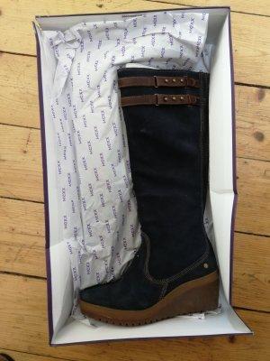 Blaue  Stiefel von Mexx Gr. 37 Wedges
