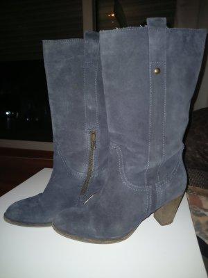Görtz Shoes Botas de cuña azul oscuro
