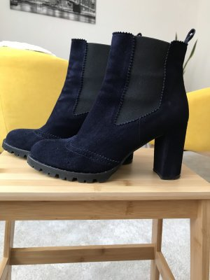 Andrea Puccini Slip-on Booties dark blue