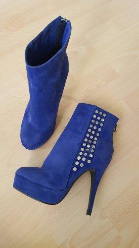 blaue Stiefeletten Gr 38 Jumex