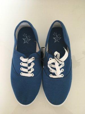Blaue Stoff Sneaker