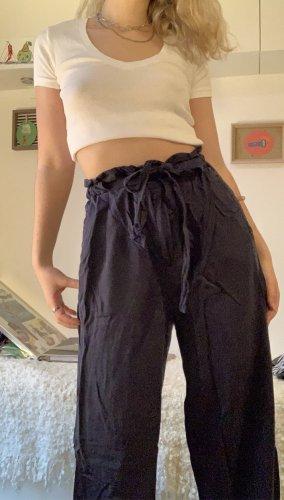 Pantalón abombado azul oscuro