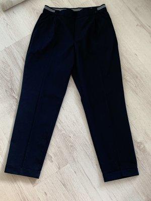 Zara Pantalon à pinces bleu foncé