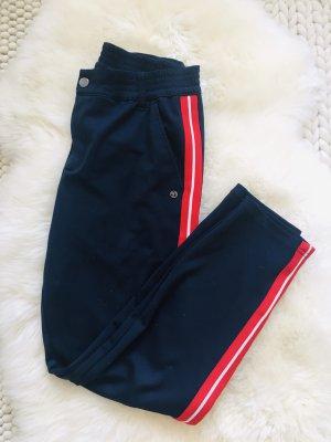 Blaue Stoffhose mit rotem Streifen Tom Tailor Größe M
