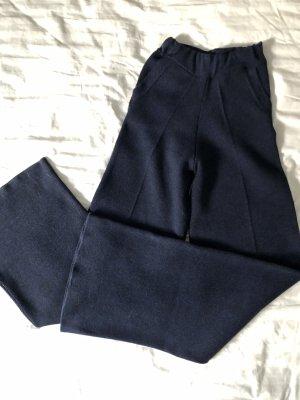 Zara Woman Pantalone di lana blu scuro-nero