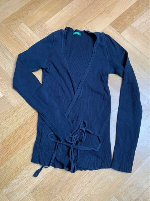 United Colors of Benetton Wraparound Jacket dark blue