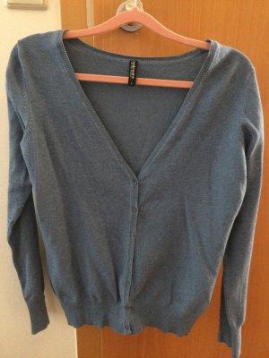 Colours of the World Cardigan dark blue cotton