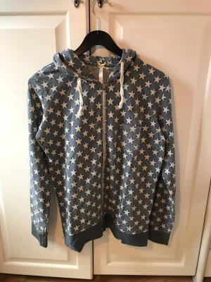 Blaue Sweatshirt Jacke mit Sternen