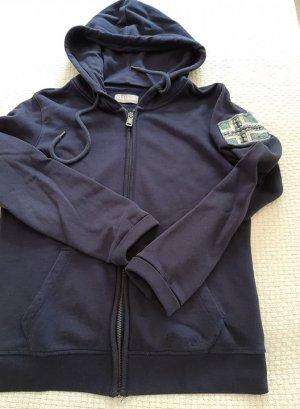 blaue Sweatshirtjacke, Hoodie von Napapijiri, Gr. M, 38/40