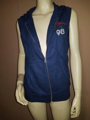 Capuchon vest blauw
