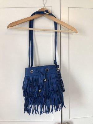 Jenny Fairy Borsa con frange blu