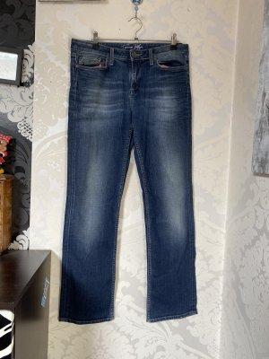 Blaue Tommy Hilfiger Jeans W31 L 32 gerades Bein