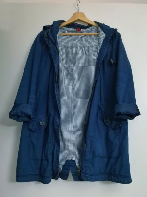 H&M Manteau court blanc-bleu