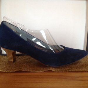 Blaue Veloursleder Pumps 37