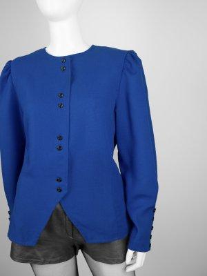 Blaue Vintage Bluse mit weiten Ärmeln