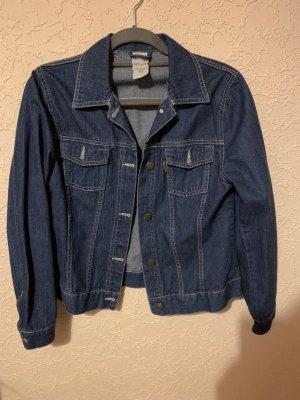 Blaue Vintage oversized Jeansjacke