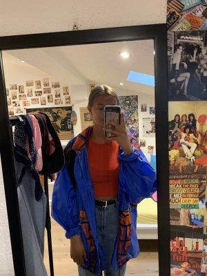 Blaue Vintage Regenjacke