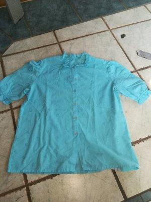 blaue Vintagebluse